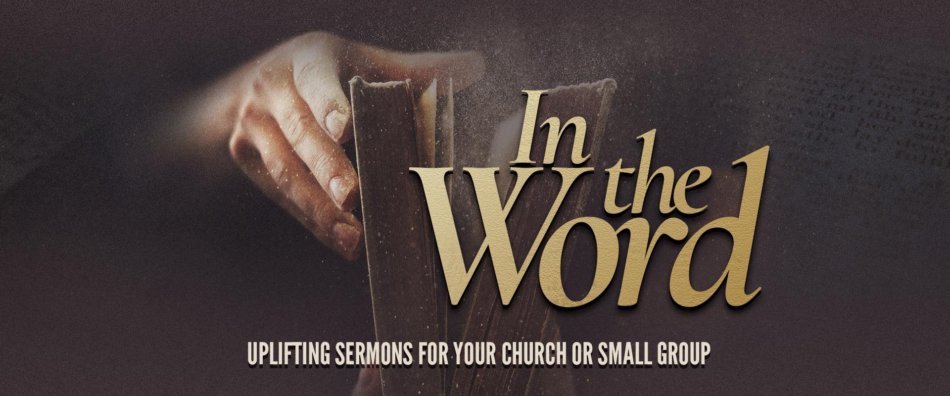 In The Word program banner