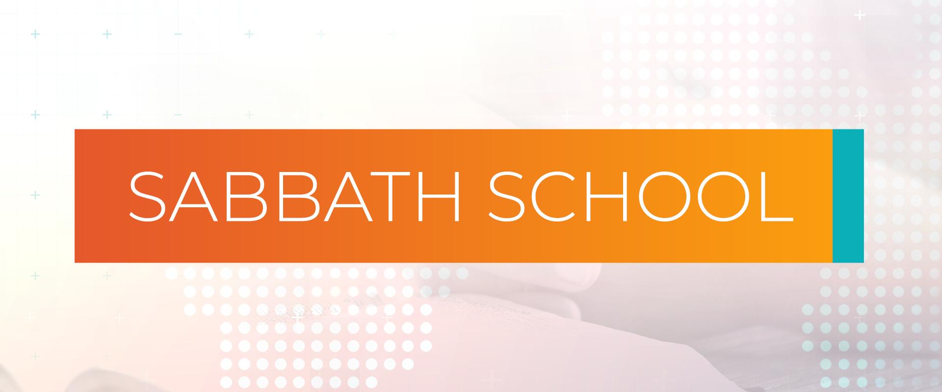 Sabbath School program banner